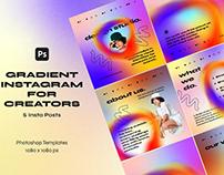 Gradient Instagram Templates for Creators