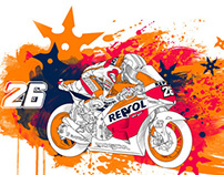 Repsol illustration promotional campaign