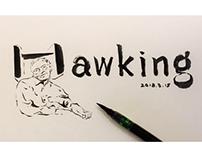 早安篇。纪念霍金Hawking,时间带走了知道时间的人。搁笔,早安!