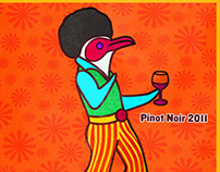 The Funky Penguin Wine label