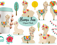 FREE Llama Fun Clipart Pack