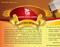 United Spirits Limited - Newsletter Design