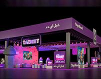 Telecom Egypt Gaming Stand Design