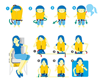 Cebu Pacific Airlines Flight Safety Card