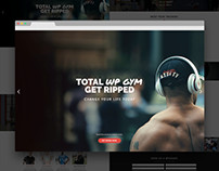 Total Gym Bold & Modern Single Page Web Design