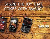Mock Holiday Flyer for Verizon