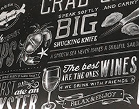 Chalkboard Mural, Briggs Oyster Company
