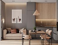"Apartment in St. Petersburg ZHK ""Pearl Cascade"""