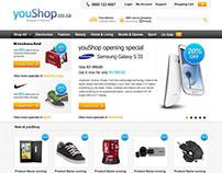 YouShop Online Store Design Concept