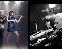 Electric violinist Linzi Stoppard of Fuse violin duo...