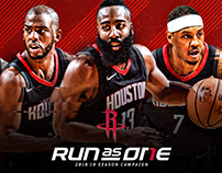 Houston Rockets 2018-19 Run As One Campaign