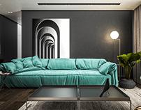 House Mc.E01, Uni-familiar ap. InteriorDesign, Albania