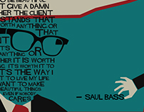 Saul Bass Poster + Motion Graphic