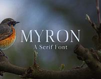 Free Myron Serif Font
