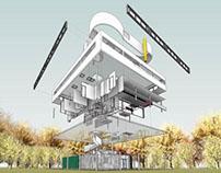Villa Savoye Revit Model - Le Corbusier_2014 update