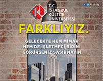 Istanbul Kultur University Application Period Posters