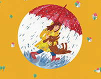 "Children book ""Funny umbrella"""