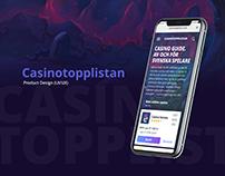 CasinoToppListan UI/UX Design