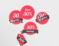 Sale Badges and Tags Template PSD