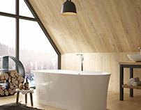 Editorial images for a high end bath designer