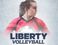 2017 Liberty University Volleyball Season Branding