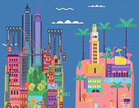High Five Boardgame illustration