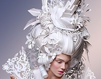Skyscraper on the Head. Baroque paper wigs 2