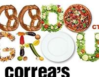 Разработка дизайна карты сети ресторанов Correa's