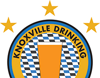 Knoxville Drinking Club logo and jersey