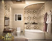 bath room design for villa in egypt