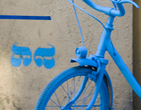 Aska _ Street Art _ Blue bicycle