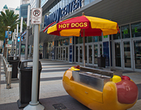Carnival Cruise Lines Hot Dog Cart