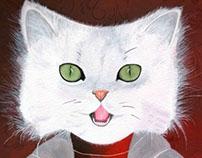 Illustration Jeunesse -La Chatte Blanche-