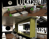 Smoking Place -Lucky Strike