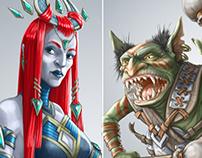 Fantasy characters design.