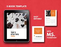 Ebook Template Editable Using Microsoft PowerPoint