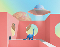 DINO DREAM IN COLOR. PRINT SERIES.