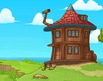 Fantasy Background Illustration in Vector