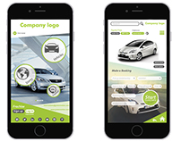 App Design for a Green Car Hire Company