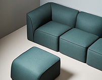 Flora sofa for Woud