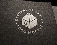 Decorative Paper Logo Mockup 2