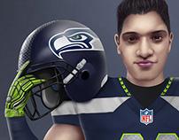 Seahawks portrait fanart