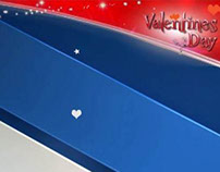 Valentine Day Top Header and SMS Ticker