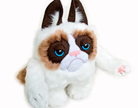 Grumpy the plush cat