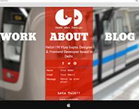 My upcoming Portfolio/Blog Design