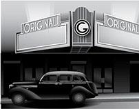 Gangster Backdrop Illustration