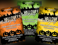 Free PSD Halloween Party Flyer  3 colors versions