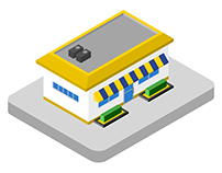 Small Shop Isometric Illustration