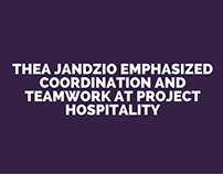 Thea Jandzio Emphasized Coordination and Teamwork