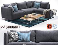 Corner sofa Flipper and Ikea rug